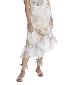 ALLISON NEW YORK Women's Tie Dye Wrap Skirt