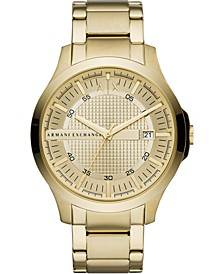 Men's Hampton Gold-Tone Stainless Steel Bracelet Watch 46mm