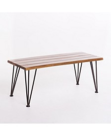 Geania Indoor Industrial and Coffee Table