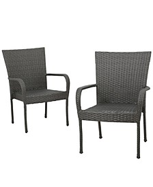 Malone Outdoor Dining Chairs, Set of 2