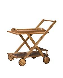 Huppert Stained Kitchen Serving Cart