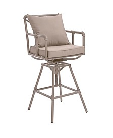 Hatteras Outdoor Adjustable Height Swivel Barstool