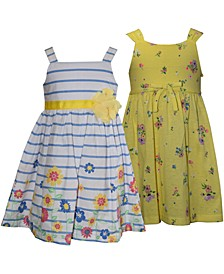 Baby Girls 2-Pc. Stripes & Floral Sundresses