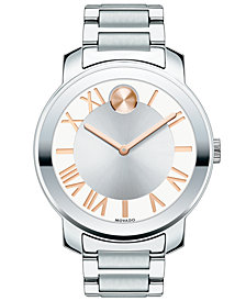 Movado Women's Unisex Swiss Bold Stainless Steel Bracelet Watch 39mm 3600196