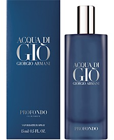 Receive a Free Deluxe Mini with any large or jumbo spray purchase from the Giorgio Armani Men's Fragrance Collection