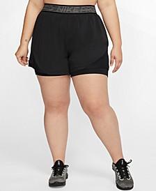 Pro Plus Size Dri-FIT Flex 2-In-1 Shorts