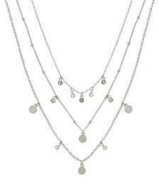 Crystal Detailed Triple Layer Women's Necklace
