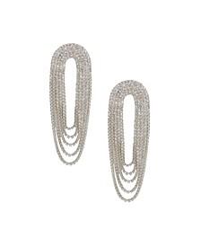 Crystal Drape Fringe Women's Earrings