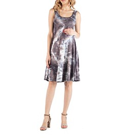 Maternity Sleeveless Tie Dye Dress
