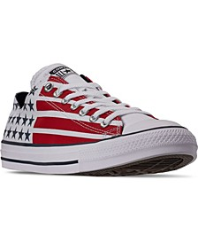 Men's Chuck Taylor All Star Stars and Stripes Low Top Casual Sneakers from Finish Line