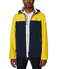 Men's Colorblock Stretch Hooded Jacket