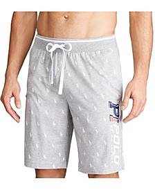Men's Cotton Signature-Print Pajama Shorts