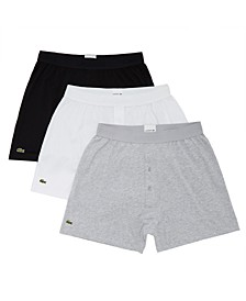 Men's 3-Pk. Essential Classic Cotton Knit Boxers
