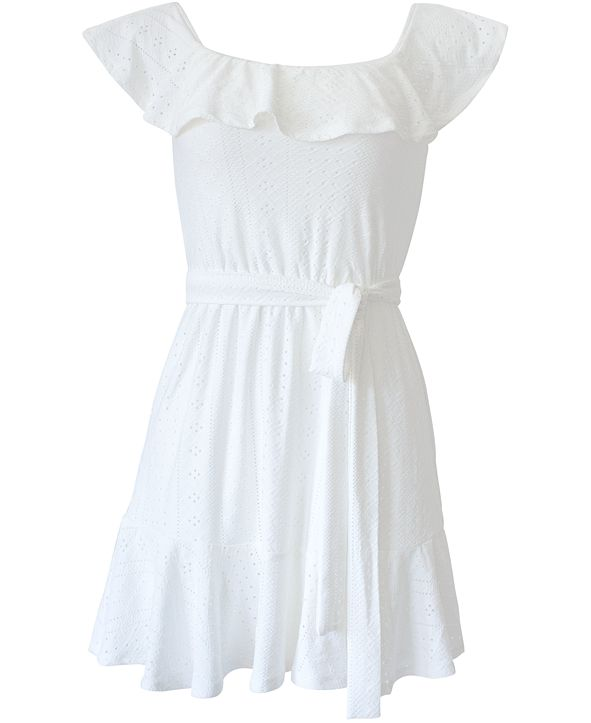 BCBGeneration Off-The-Shoulder Flounce Dress