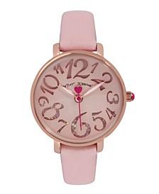 Women's Cut-Out Dial Pink Polyurethane Strap Bracelet Watch 36mm