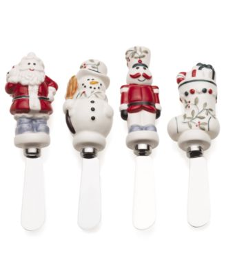 Set of 4 Winterberry Figural Spreaders
