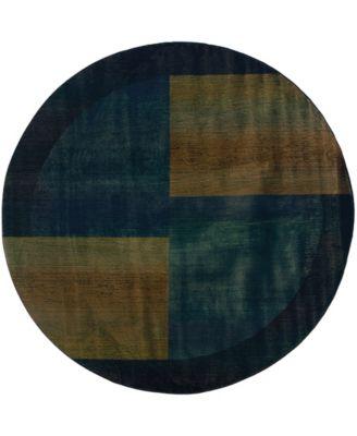 Kismet KIS010 Blue 8' Round Rug