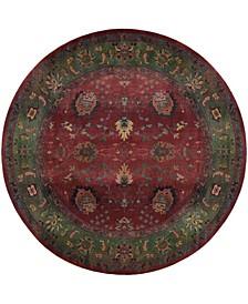 Kismet KIS07 Red 6' Round Rug