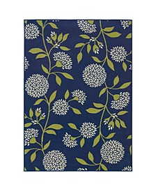 "Bella BEL09 Blue 5'3"" x 7'6"" Area Rug"