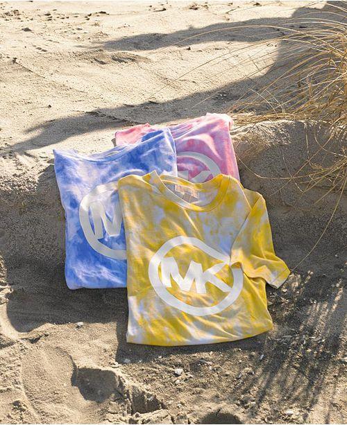 Michael Kors Plus Size Tie Dyed Logo T-Shirt