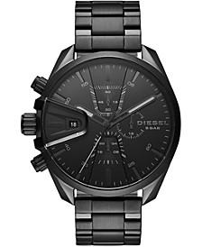 Men's Chronograph MS9 Black Stainless Steel Bracelet Watch 48mm