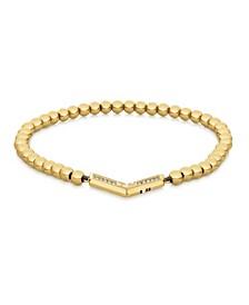 Women's Gold-Tone Bead Bracelet