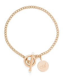 Stella Imitation Pearl Initial Toggle Bracelet