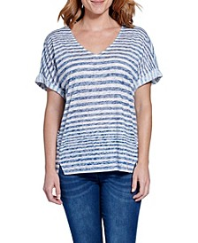 V-Neck Boxy Step Tee
