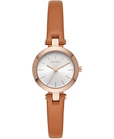 Women's CityLink Brown Leather Strap Watch 26mm