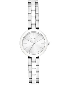 Women's Citylink Stainless Steel & White Ceramic Bracelet Watch 26mm