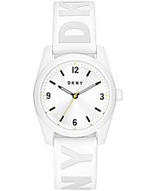 Women's Nolita White Silicone Strap Watch 34mm