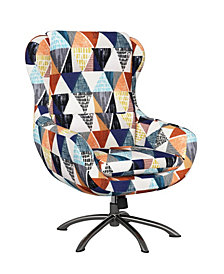 Handy Living Entasi Modern Swivel Rocking Chair
