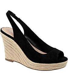 Laila Peep-Toe Wedge Pumps