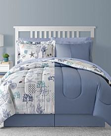 Fairfield Square Bluffton 8Pc Queen Comforter Set