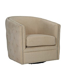 Chios Button Tufted Swivel Chair