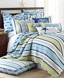 Bayport Stripe Reversible Full/Queen Quilt Set