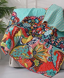 Jules Floral Reversible Quilted Throw