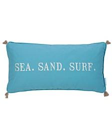 "Maui 12"" x 24"" Sea Sand Surf Tassel Trim Decorative Pillow"