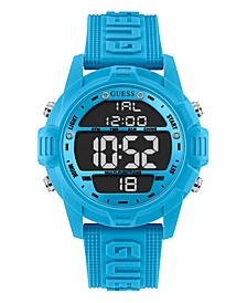 Men's Logo Silicone Digital Watch 48mm