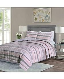 Seersucker Stripe 2-Piece Twin Quilt Set