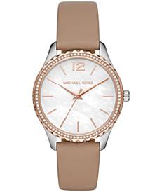 Layton Three-Hand Truffle Leather Watch