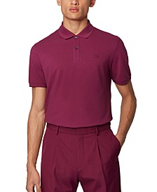 BOSS Men's Pallas Purple Polo Shirt