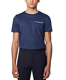 BOSS Men's Tessler 134 Open Blue T-Shirt