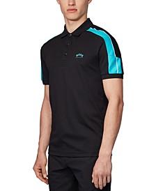BOSS Men's Paule 1 Black Polo Shirt