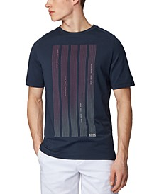 BOSS Men's Thilix Dark Blue T-Shirt