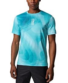 BOSS Men's Tee 8 Open Blue T-Shirt