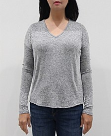 Women's V-Neck Long Sleeve Dolman Top