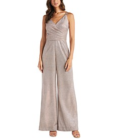 Metallic Wrap Jumpsuit