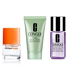 Receive a Free Happy Spray and Choose your Facial Cleanser with any $65 Clinique purchase!