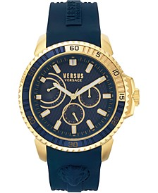 Men's Aberdeen Extension Blue Silicone Strap Watch 45mm